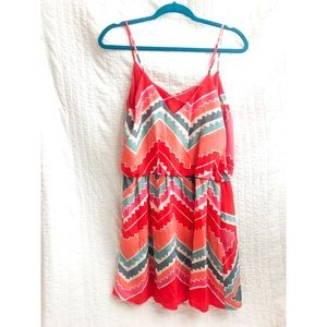 MYNE pink red turquoise strappy dress